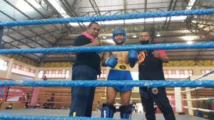 Alfi Sylfa Nila dan pelatih / Foto: Sylfa-1630334182