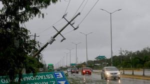 Badai Grace di Meksiko
