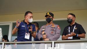 Ketum PSSI,  Mochamad Iriawan bersama Jenderal Listyo Sigit Prabowo dan Menpora Zainudin Amali / Foto: LIB