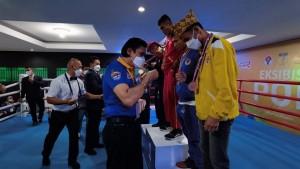 Laga eksebisi kickboxing Pekan Olahraga Nasional (PON) XX Papua 2020-1632415368