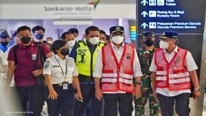 Menhub Tinjau Pintu Masuk Negara Fasilitas PCR di Bandara Soekarno Hatta-1632837382