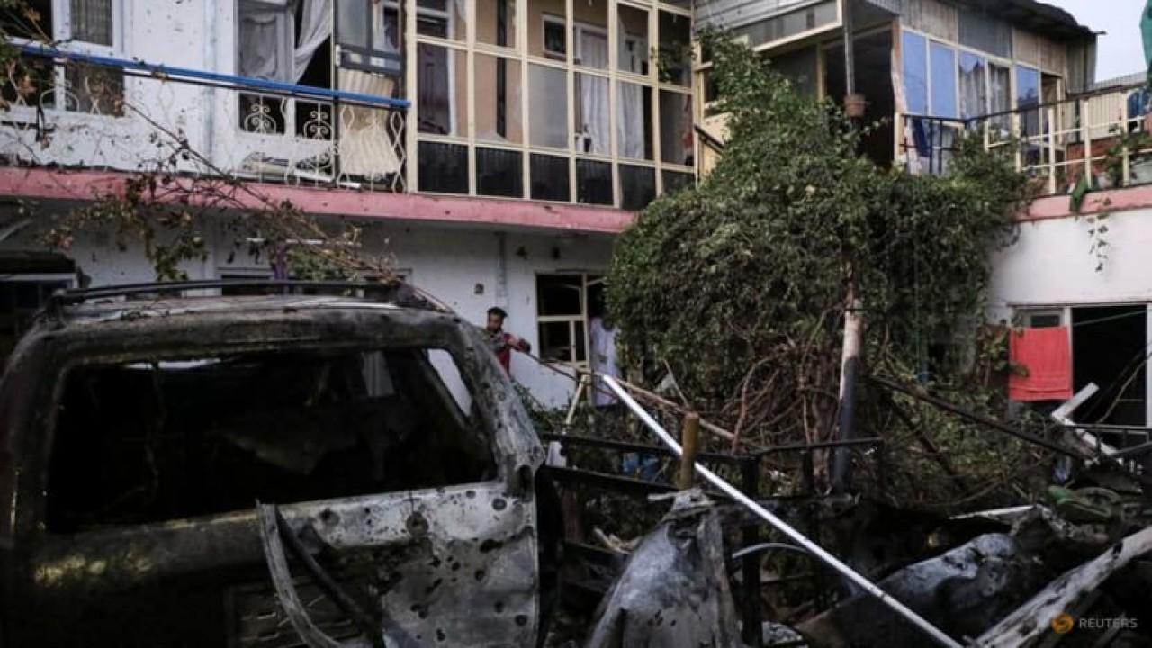Serangan drone AS menghancurkan rumah warga di Kabul, Afghanistan. (Reuters)