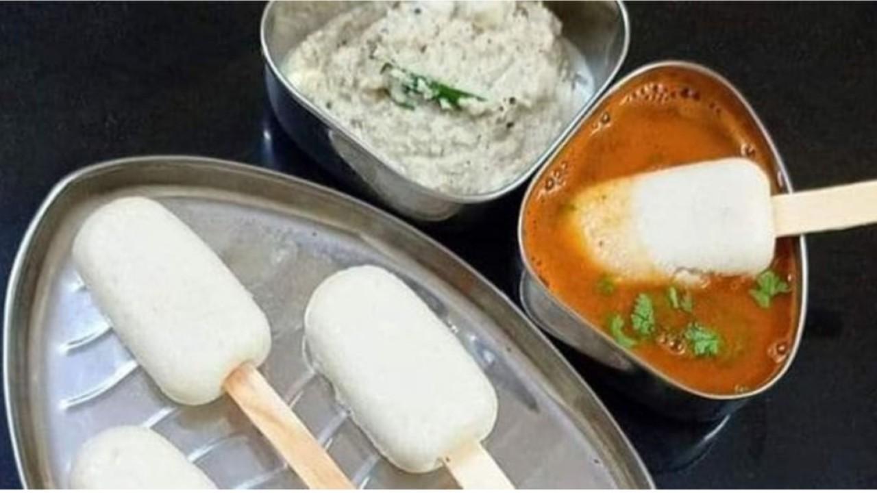 Es krim dari kue beras dan kuah kari (net)