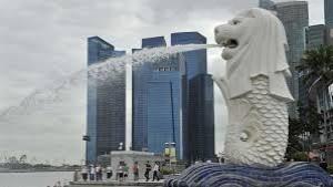 Patung Merlion ikon Singapura-1633233051