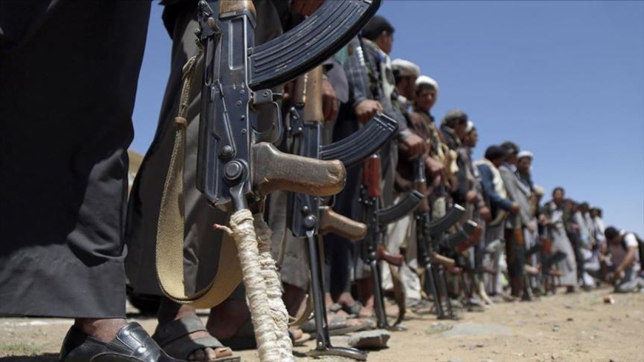 Ilustrasi pemberontak Houthi. (Anadolu Agency)