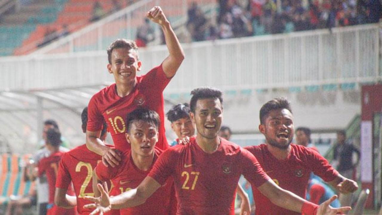 Selebrasi Timnas Indonesia U-23